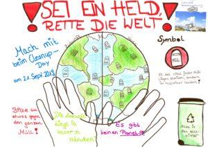 Vision: Wir wollen in einer sauberen, gesunden und müllfreien Welt leben.  World Cleanup Day