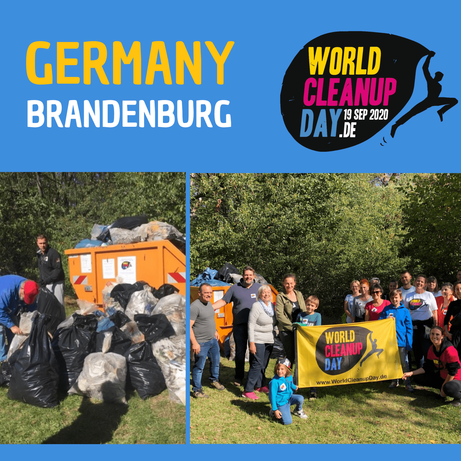 Baumfreunde und SPD Kloster Lehnin sammeln Müll (Brandenburg)