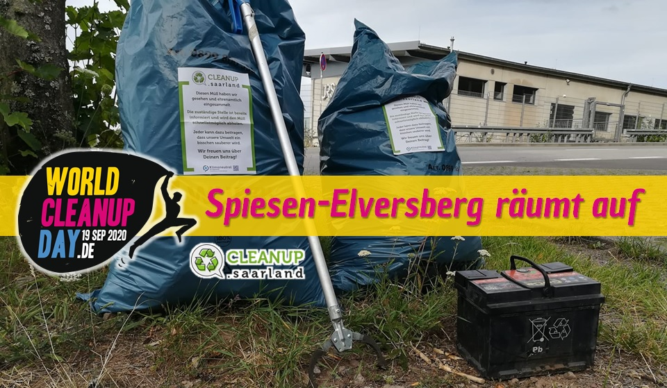 World Cleanup Day in Spiesen-Elversberg (Saarland)