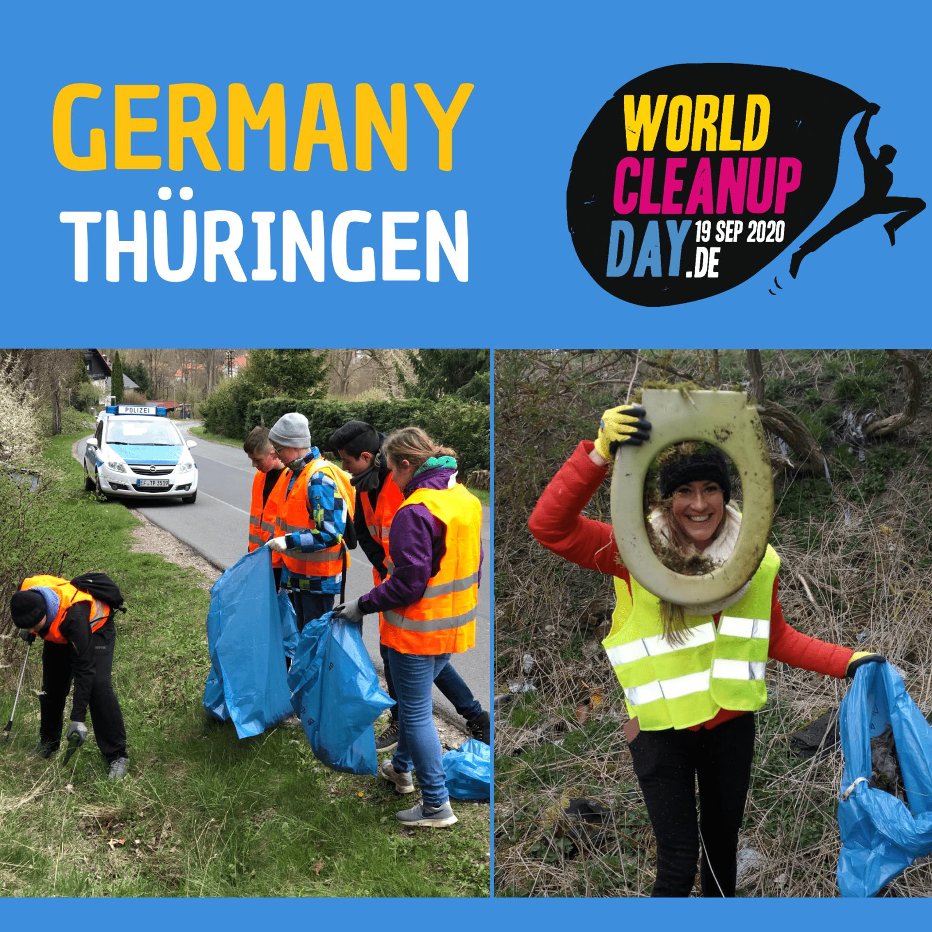 Wir räumen den kleinen Hörselberg in Wutha-Farnroda (Thüringen) auf