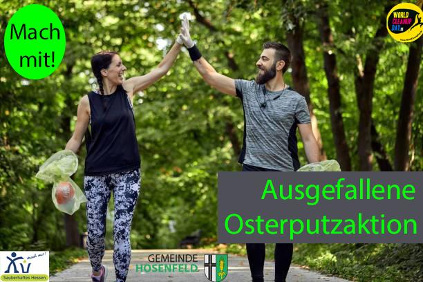 Ausgefallene Osterputzaktion zum World Cleanup Day (Hosenfeld, Hessen)