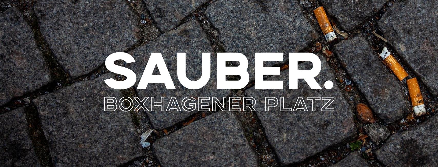 CleanUp   sauber.Boxhagener Platz (Berlin)