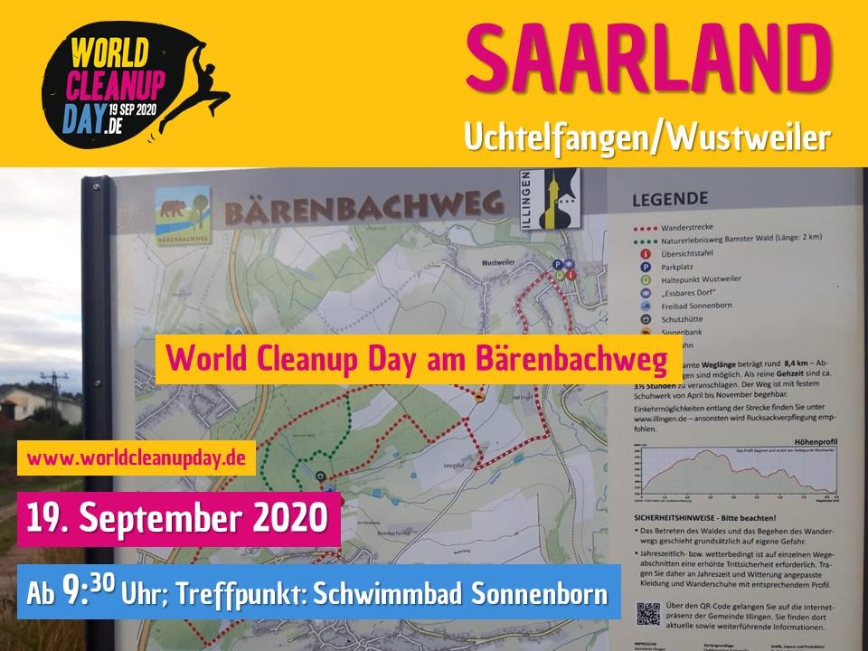 World Cleanup Day am Bärenbachweg (Uchtelfangen/Wustweiler) Saarland