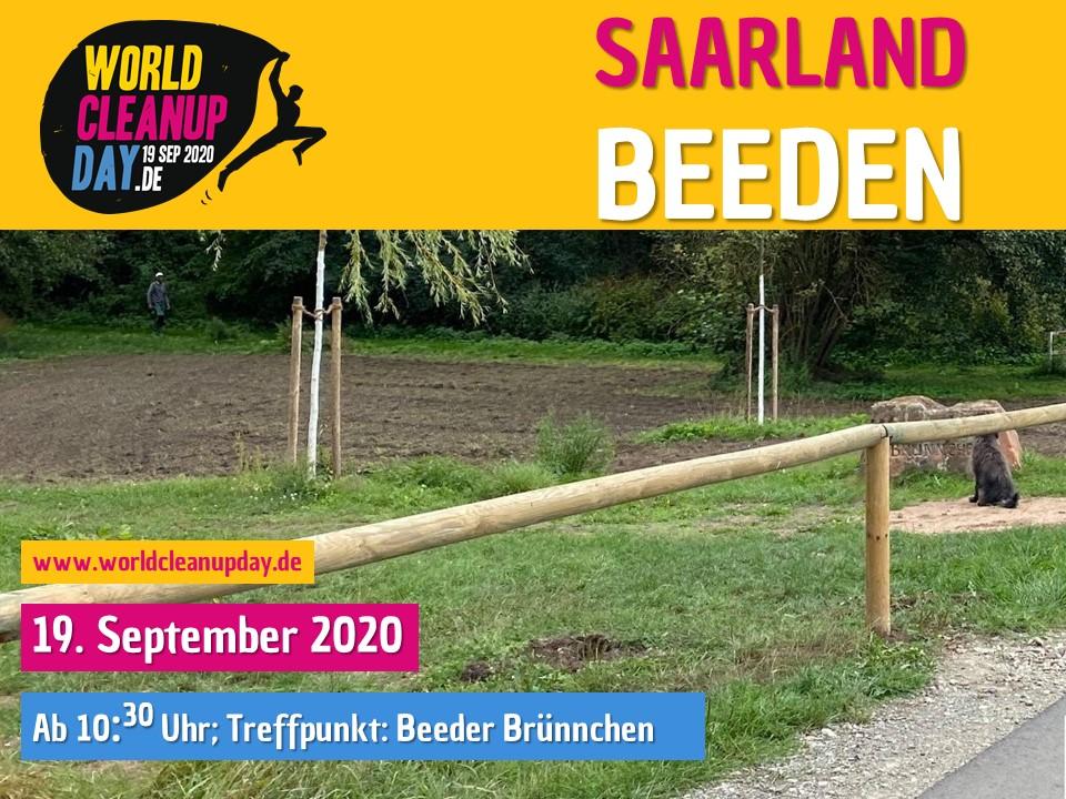 World Cleanup Day auf der Blumenblühwiese Beeden (Saarland)