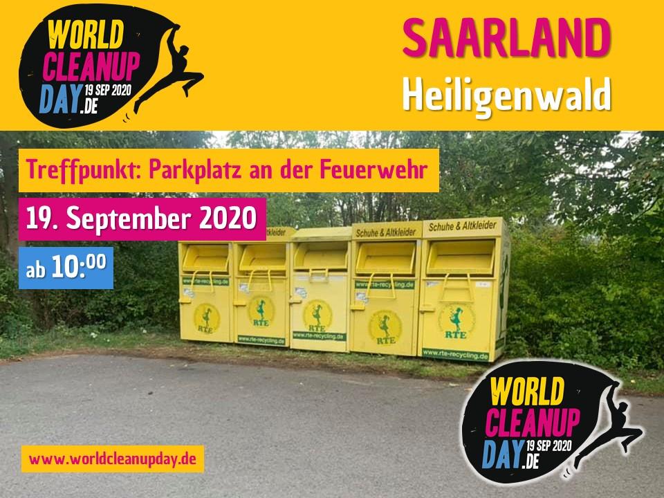 World Cleanup Day in Heiligenwald (Saarland)