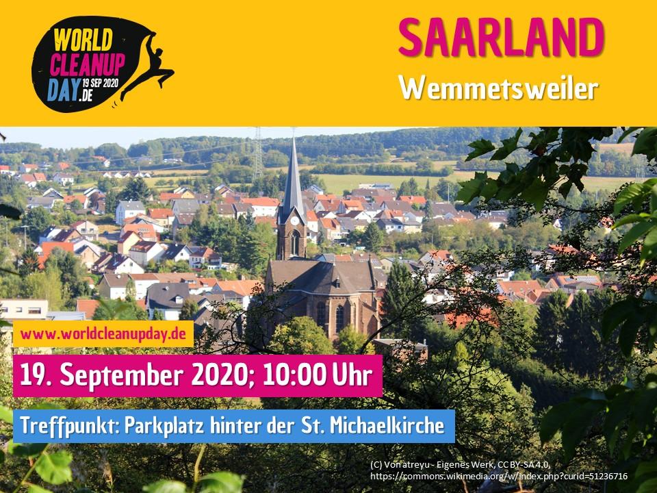World Cleanup Day in Wemmetsweiler (Saarland)