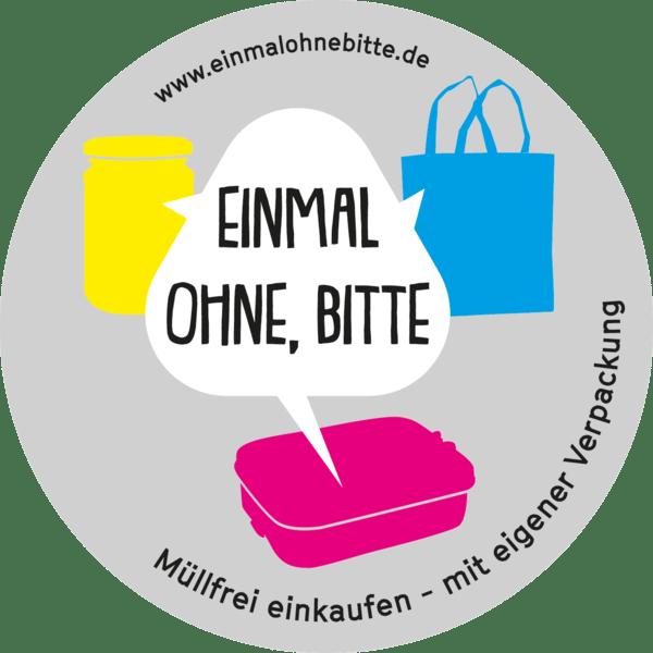 Logo von einmalohnebitte.de - Müllfrei einkaufen - mit eigener Verpackung