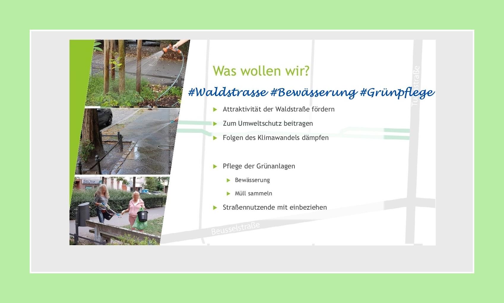 World Cleanup Day in der Moabiter Waldstraße (Berlin)