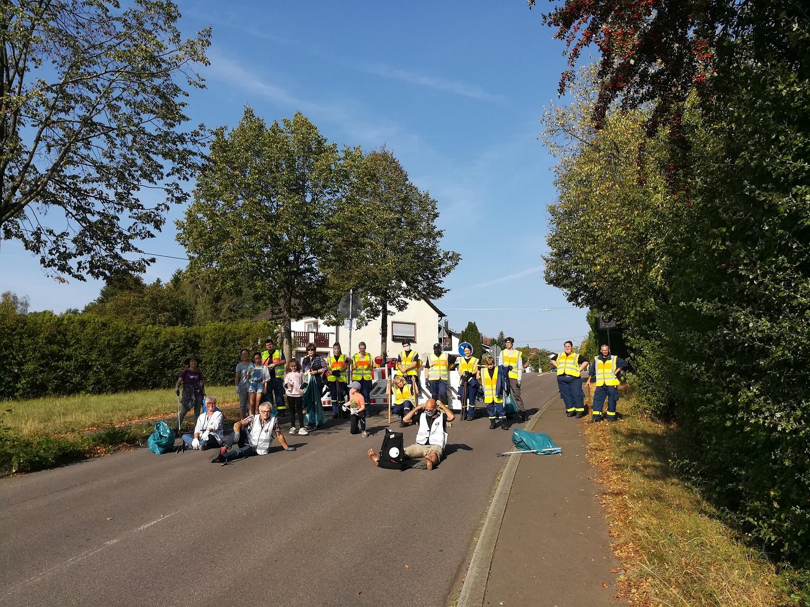 World Cleanup Day mit \'Illingen engagiert gegen Müll\' (Saarland)
