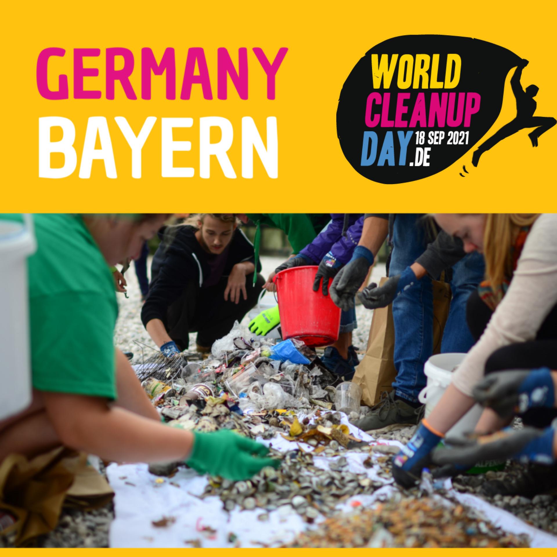 Cleanup am Aufseßplatz zum World Cleanup Day 2021 (Bayern)