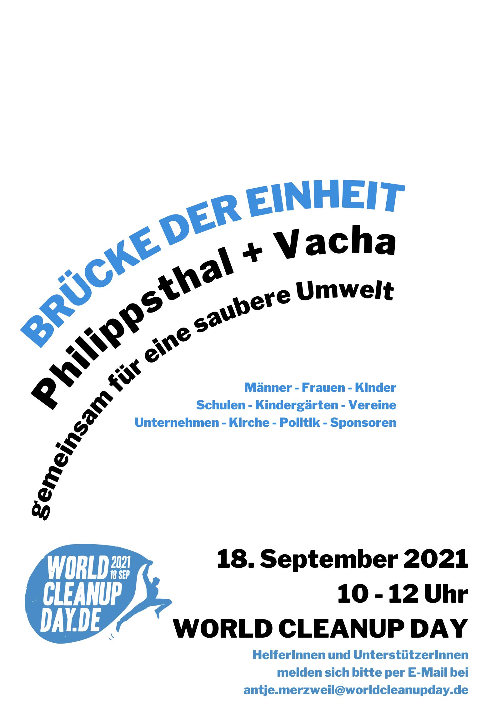 Brücke der Einheit - Gemeinsam für eine saubere Umwelt - Philippsthal (Hessen) und Vacha (Thüringen)