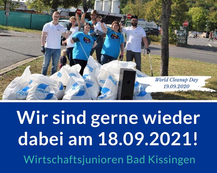 Cleanup der Wirtschaftsjunioren Bad Kissingen (Bayern)