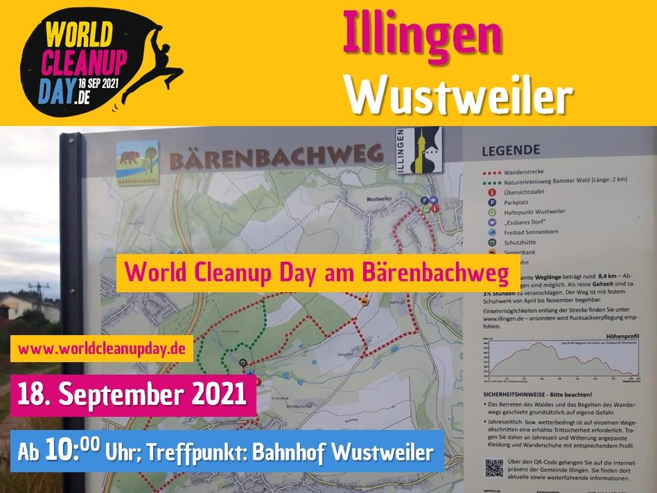 Cleanup am Bärenbachweg Wustweiler (Saarland)