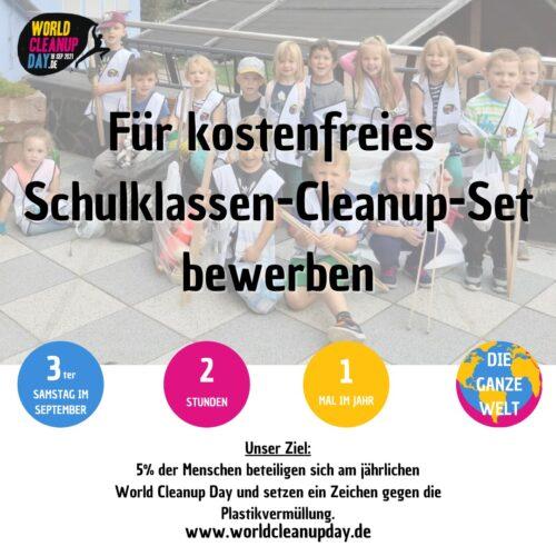 bewerbung kostenfreies schulklassen cleanup set